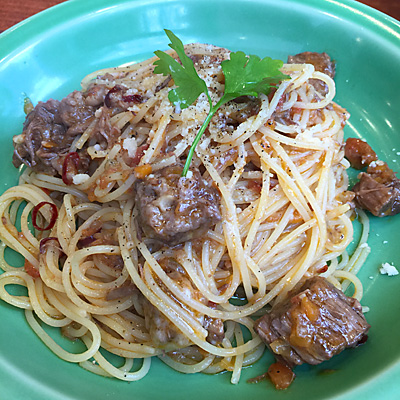 肉バルRISEラグーソーススパゲティ